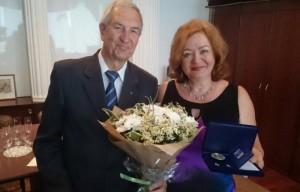 Игоря Мищенко и Елену Мищенко наградили за семейные заслуги