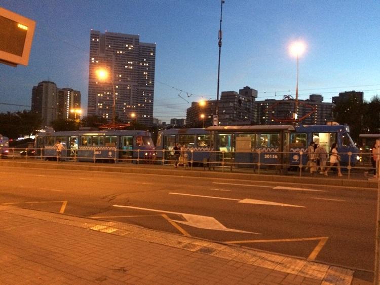 Трамвай в районе