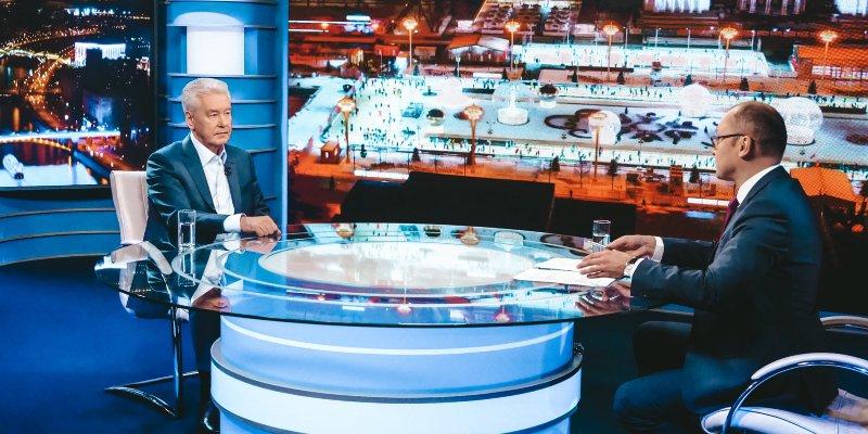 Сергей Собянин в прямом эфире