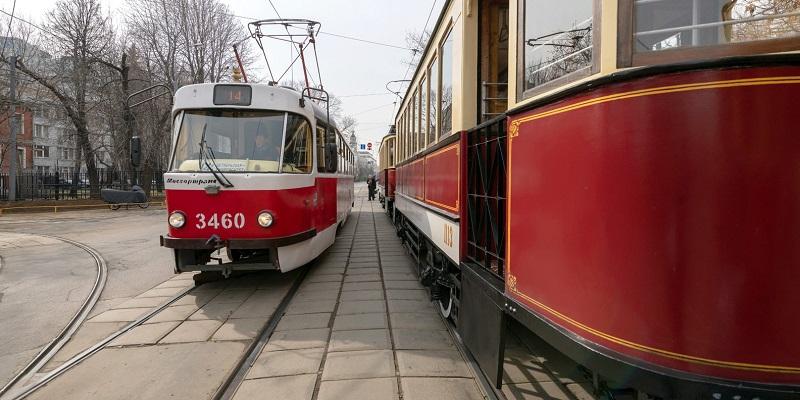 парад трамваи Собянин